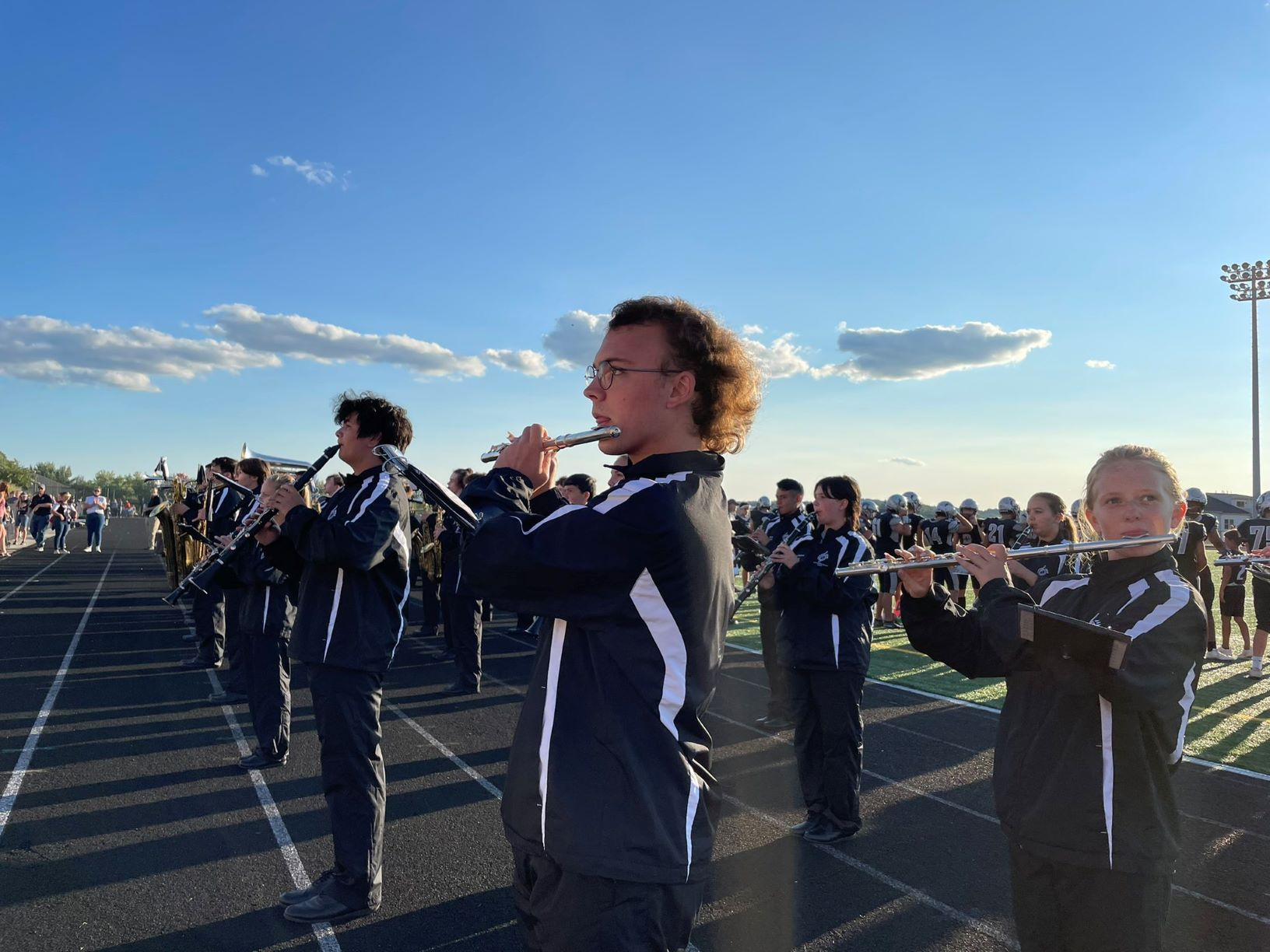 Oakdale High marching band